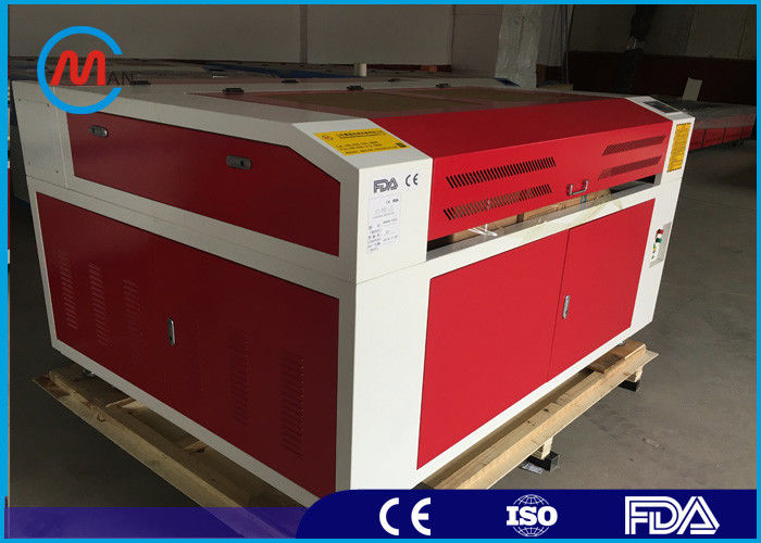 Red 150W CNC CO2 Laser Engraving Machine , Leadshine Stepper Motor Laser Co2 Engraver