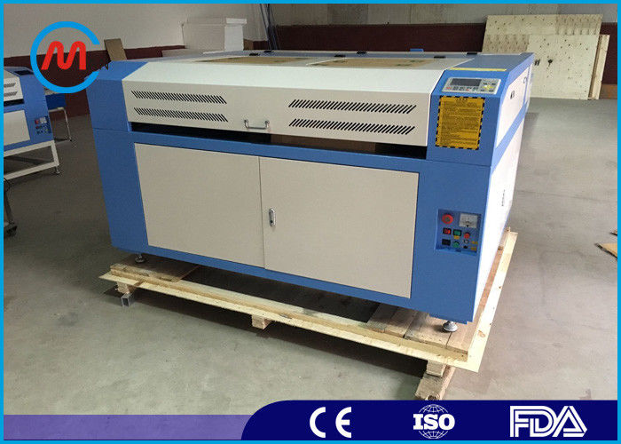 Water Cooling PVC Laser Engraver Cutter Machine For Fabric 900 x 600mm Cutting Area