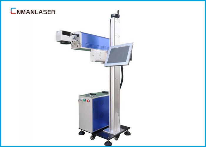 Air Cooled Flying Online 20w CO2 Laser Marking Machine For Rubber Plastic