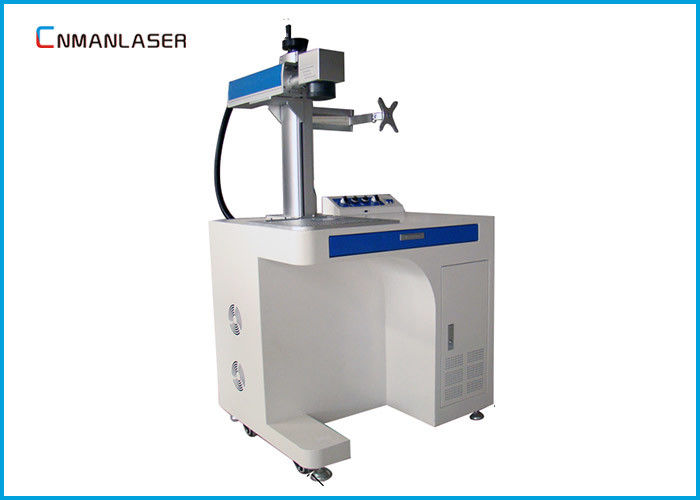 Metal Surface Label Laser Printer Laser Marking Machine With 2D Alloy Table Raycus 20w